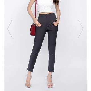 Fayth Citizens High Waisted Pants in Gunmetal
