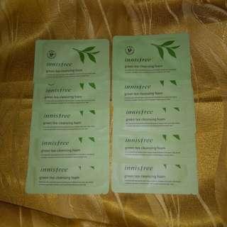 [BUNDLE] Innisfree Green Tea Cleansing Foam 4ml x 10pcs