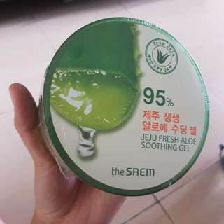 (NEW) THE SAEM JEJU FRESH ALOE SOOTHING GEL 100% ORIGINAL KOREAN PRODUCT.