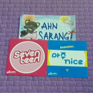 SEVENTEEN LOVE LETTER REPACKAGE/AJU NICE ALONE AL1 ALL TEEN AGE STICKER