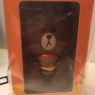 McDonalds Line Friends Brown Portable Fan