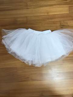 9-12M 80cm Tutu Skirt baby girl white
