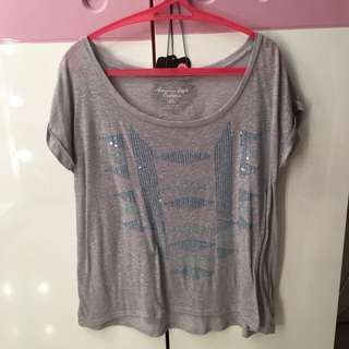 AMERICAN EAGLE OUTFITTERS Gray top - USED ONCE