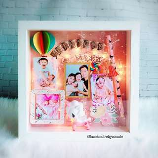 Personalised 3D Photo Frame (Tokidoki Unicorno)