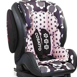 Like New: Cosatto Hug Group 123 Isofix Car Seat – Dasiy Dot