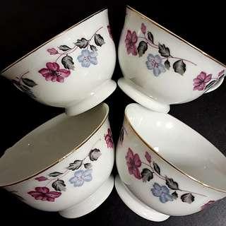Vintage Bunga Sabun Porcelain Teacups