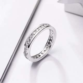 925銀鑲白鋯石女裝戒指 SJ15044