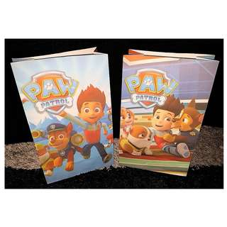 Paw Patrol Favor Paper Bag