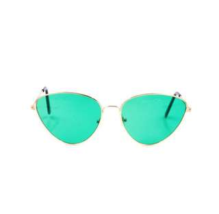 Retro Green Lens Sunnies