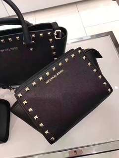 Authentic Micheal Kors Selma studded small