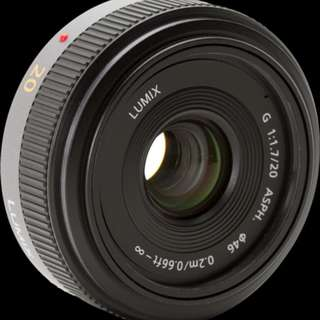 Panasonic Lumix G 20mm F1.7 ASPH Condition 9.9/10