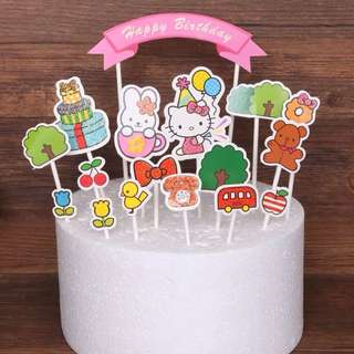 💕 Hello Kitty party supplies - DIY Cake Deco / cake toppers / party deco