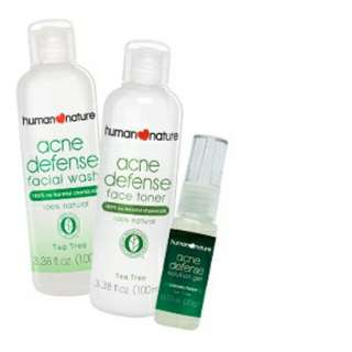 Acne Defense Facial Wash, Toner and Solution Gel