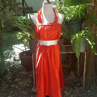 Red cocktail dress gown