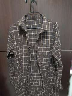 Long brown flannel