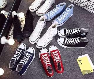 100%New Converse同款白色帆布鞋 小白鞋平底 易襯