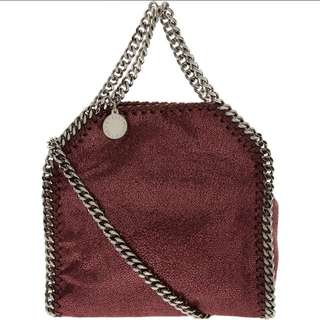 STELLA MCCARTNEY Plum Mini Falabella Tote Bag