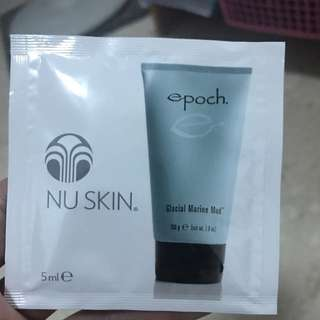 nu ksin glacial marine mud mask sachet for trial and travel