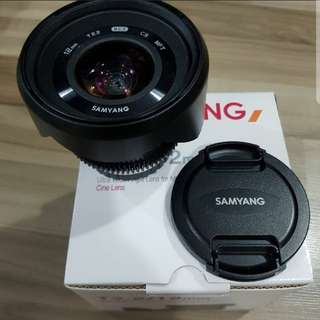 samyang 12mm T2.2 cine lense for micro four third