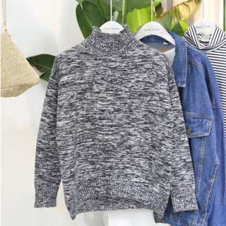 Knitted Black & White Sweater from Korea