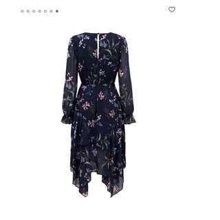 FOREVER NEW ASYMMETRICAL FLORAL DRESS