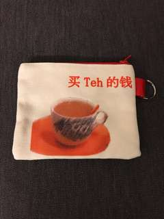 BN Money coins pouch for tea money 买 Teh 的钱 Singaporean
