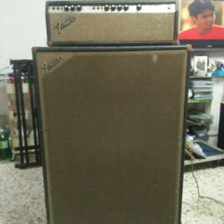 1974 Fender Bassman guitar  and bass amp amplifier