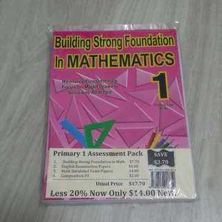 Primary 1 Mathematics Math Building Strong Foundation English Examination Papers Composition