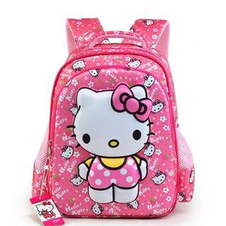 Brand New 3D Hello Kitty School Bag (Small) For SALE! SGD29! With FREE GIFT! Last Pcs!