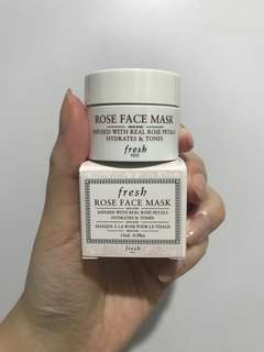 Fresh Rose Face Mask 15ml travel size