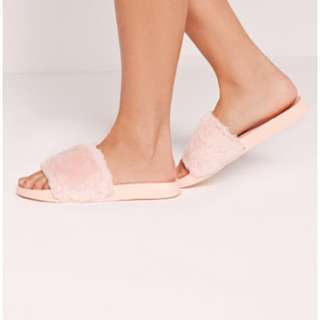 Rubi Pink Sliders Slip on Slip in