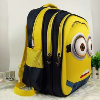 Brand New 3D Minion School Bag For SALE! SGD39! With FREE GIFT! Last Pcs!