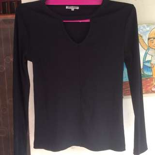 Colorbox longsleeves top woman v-neck