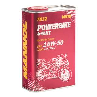 1L MANNOL POWERBIKE 4T 15W50 WITH ESTER [MADE IN GERMANY]