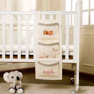 BN Baby Cot Crib Hanging Toy / Diaper Storage Organiser Pockets (B)