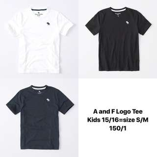 A and F 童裝大碼logo tee