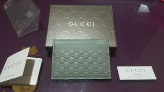 全新真品 Gucci Card holder case, Grey color