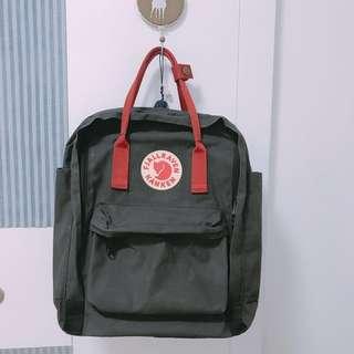 """Kanken 15"""" classic bag 粗帶背囊 灰x紅"""