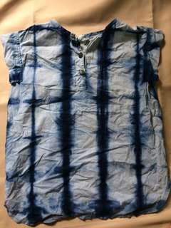 Blue Tie dye sleeveless top