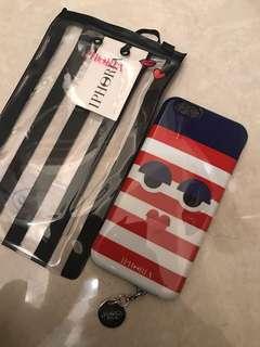 Iphoria iphone 6/6S phone case 手機殼 紅藍間條 個性