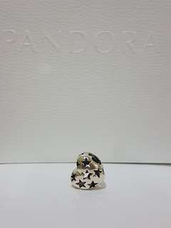Pandora starry heart openwork charms
