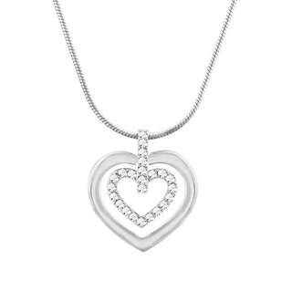 Authentic Double Heart Swarovski Necklace