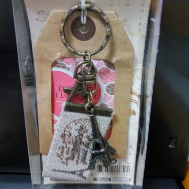 【復古手感鑰匙圈2】-布標鐵塔