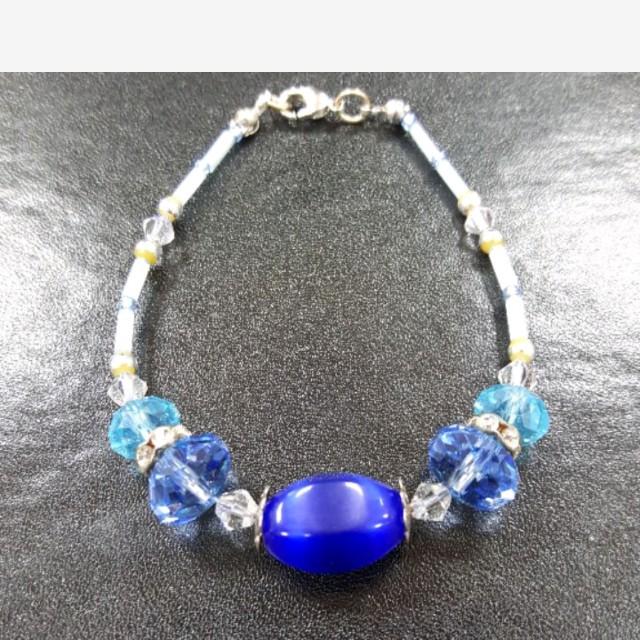 琉璃手鍊(藍色)