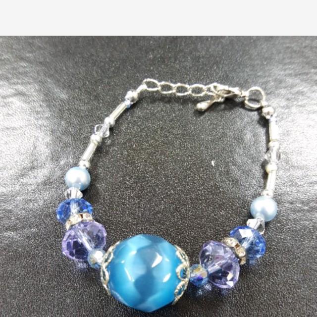 琉璃手鍊(藍紫)