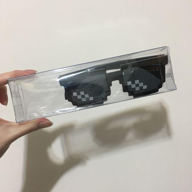 二次元 馬賽克墨鏡 眼鏡 裝飾