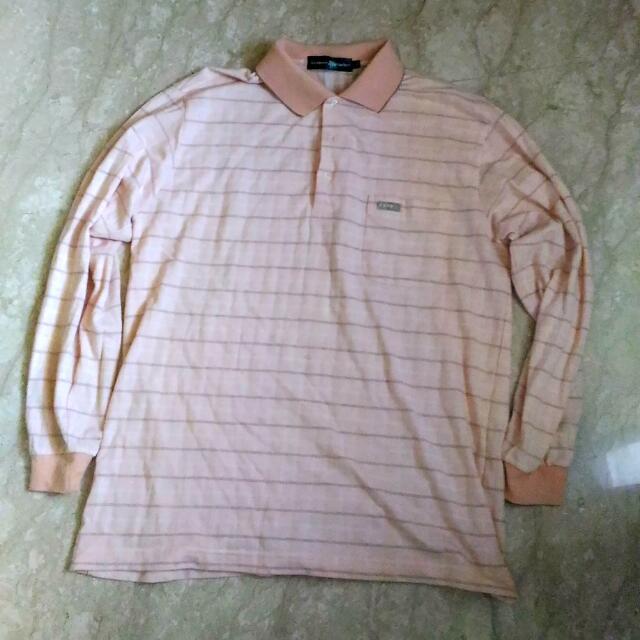 古著 長袖 Polo衫 XL