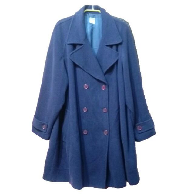 深藍大衣羊毛外套 wool 古著 vintage 晨鹿 morning deer 義大利製