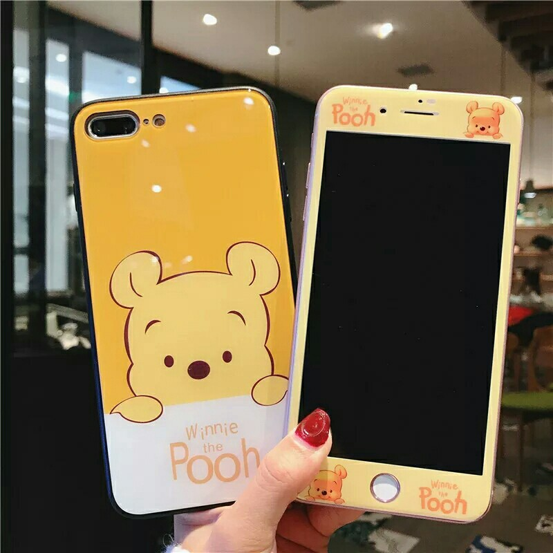 sale retailer f84ee cd397 ⚠ Pre-order! Cute Disney Pooh Bear theme design Hard Phone Case with front  protector For IPhone 6, 6S, 6 plus, 6S Plus, 7, 7 Plus, 8 & 8 Plus and X!  ...