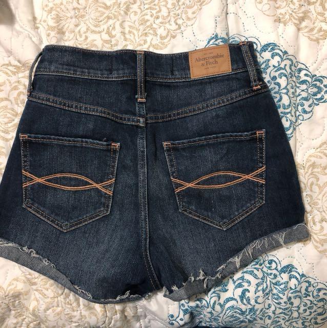 Abercrombie high waisted shorts size 24